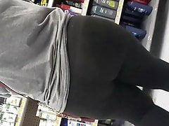 Thicc latina in tights shopping