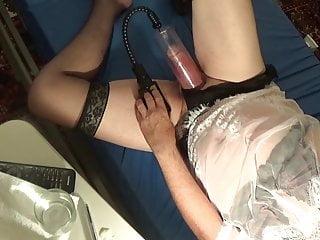 lingerie transvestite 48 bas nylon pumping shemale