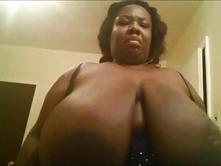 Her huge tits...