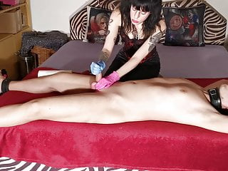 Dominant sister gives ruined handjob to her stepbrother pt1