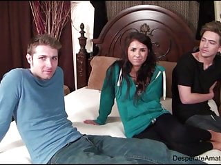 Casting Danielle aka Evi Fox Determined Amateurs orgy