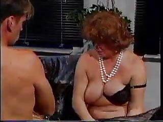 Three old grannies seduce young man...