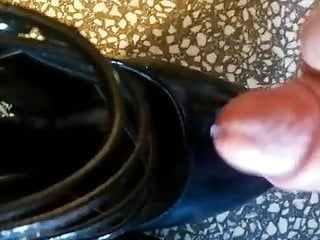 Wanking wifes shoes...