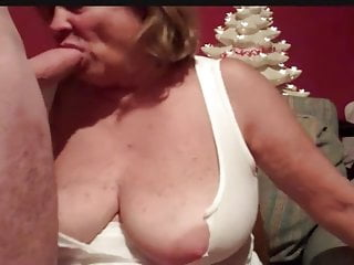 Big tits mature has face stuffed by cock...