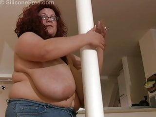 Rosa swings around a pole...