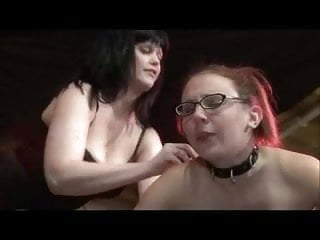 Lesbian daughter in glasses toyed...