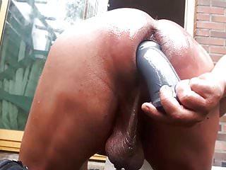 Amateur sissy tripple head anal gardenboy...