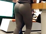 Skinny pawg bubble butt spandex