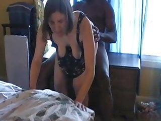 Wife and black bull humiliate cuckold using her wedding ring
