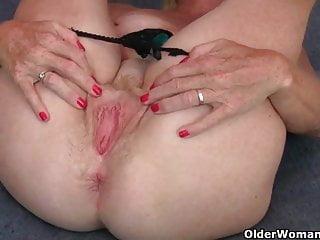 Dildo up her ass...