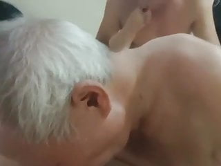 asian old man and grandpa threesome