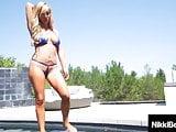 Pussy Loving Lesbians Nikki Benz & Tasha Reign Fuck In Pool!