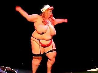 Ssbbw burlesque stripping...