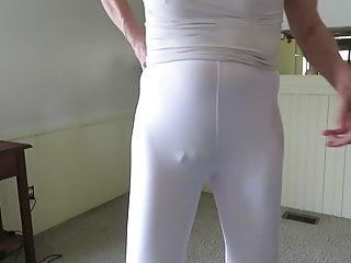 Spandex poses bulge...