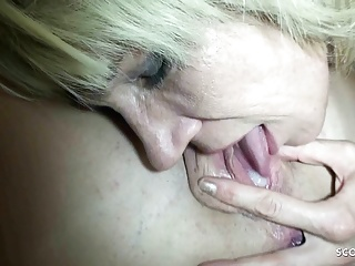 creampie eating and anal sex threesome for 2 german milfsPorn Videos