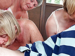 one man foursome mature with a Grandma Older