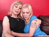 Nina Hartley Teaches Teen Girl To Lick Pussy