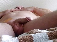 Amateur - Waxing my BF's Cock & Balls