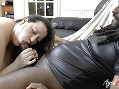 AgedLovE Interracial Mature Hardcore and Blowjob