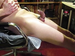 electro feels so good on a freshly shaved cock and ballsHD Sex Videos
