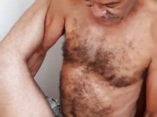 Hairy Oldman fucking ass