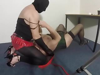 Sucking for spanking TV