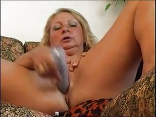 Chubby granny sucking and riding dong...