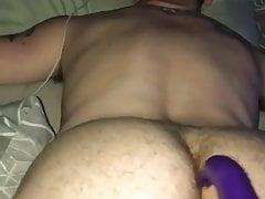 Tied up dildo fun