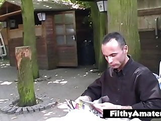 Slave who loves humiliation pissing on himself