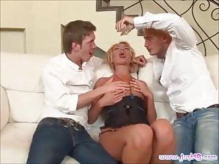 Blonde Slut Ivana Sugar Gets Double Pumped