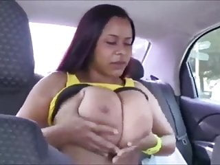Boobs in car - Bigger