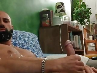 Cam cum hits his face with massive load...