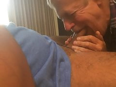 nice silverdaddy sucking younger man in bedfree full porn