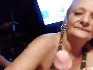 Blowjob Mature Wife video: Granny Red makes Jungleman cum !