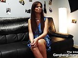 Syren De Mar interviewed and creampied by 5 guys