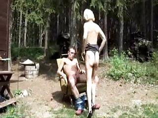 busty blonde milf outdoor fucked
