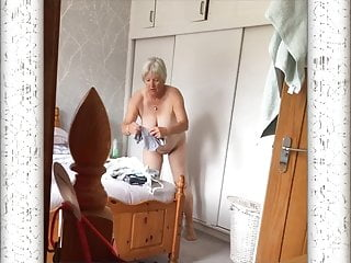 changing on hidden cam Caught  Mature Lady