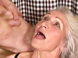Busty Granny Takes Young Cock