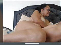 Latin Granny Martha fingering pussy big boobs