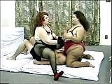 2 BBW in Pantyhose Facesitting