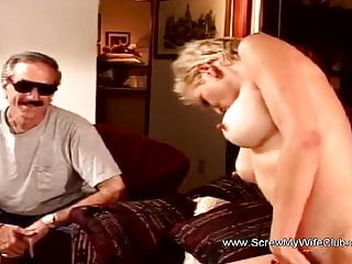 Amused Husband Watches Wifey Swing A Hard Second Session
