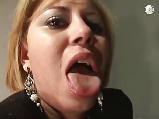 Slut humiliated with hard face slapping piss...